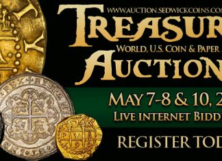 Daniel Frank Sedwick's Upcoming Treasure Auction 29 Now Online