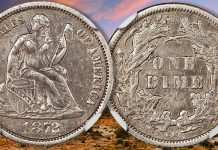 1872-CC Seated Liberty Dime Among Highlights of David Lawrence Rare Coins Auction