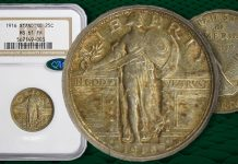 Key Date 1916 Standing Liberty Quarter Offered at GreatCollections