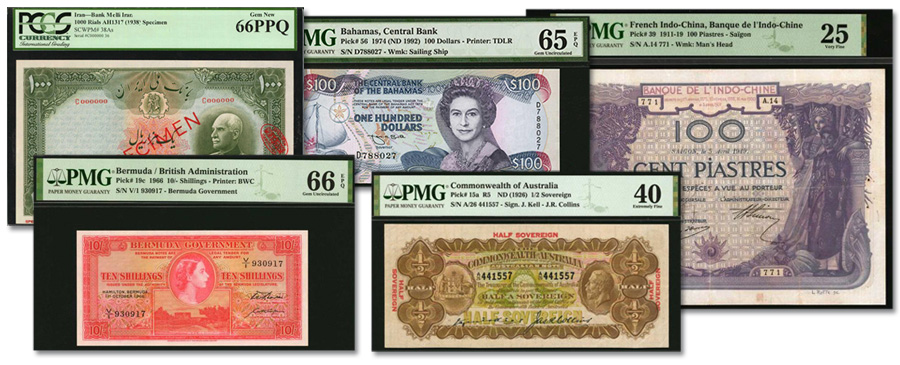 The May World Paper Money Collectors Choice Online Sale from Stack's Bowers Galleries