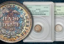 Half Dimes, Coins in Old Holders Highlight Heritage Auctions