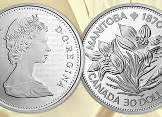 Royal Canadian Mint Issues Collector Coin Celebrating Manitoba 150