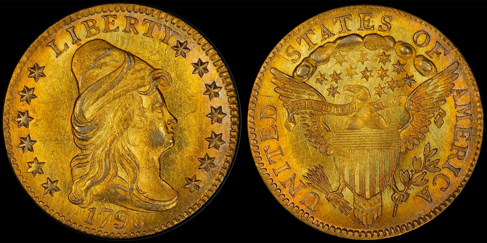 1798 CLOSE DATE $2.50 PCGS MS65, EX POGUE, COURTESY OF STACK'S BOWERS