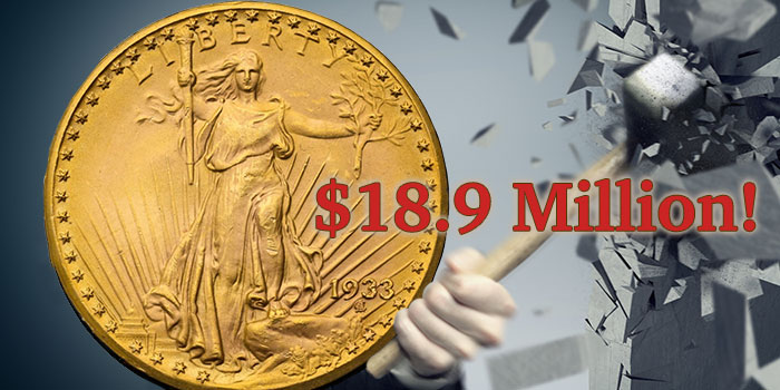 1933 Double Eagle Demolishes Record, Sells for $18.9 Million