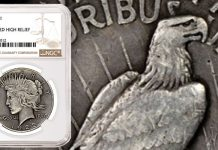 Fifth 1922 Modified High Relief Peace Dollar Pattern Discovered and Certified by NGC