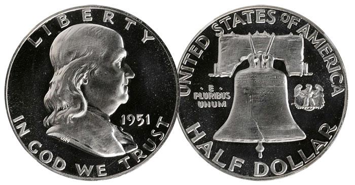 1951 Proof Franklin Half Dollar