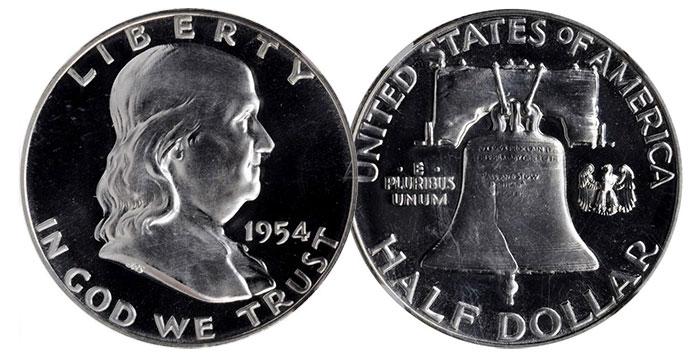 1954 Proof Franklin Half Dollar