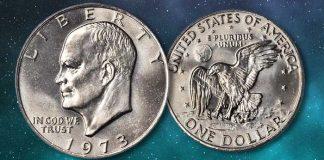 United States 1973 (P) Eisenhower Dollar