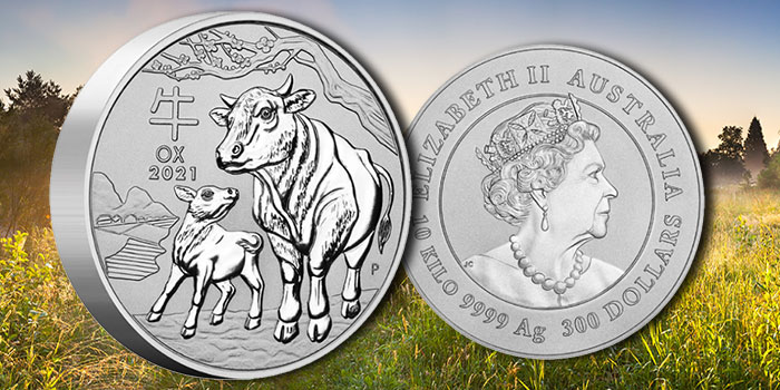 10 Kilo Silver Coin From Perth Mint Celebrates Year of the Ox 2021