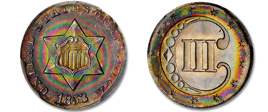 Magnificent 1853 Three-Cent Silver Featured in Stack's Bowers June Costa Mesa Auction