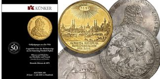Künker Summer Auction Sale #350: Popken Collection and Rarities From Germany