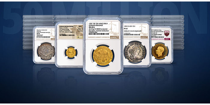 NGC Celebrates 50 Million Coins, Tokens and Medals Certified