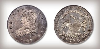 Stack's Bowers August ANA Auction to Feature Landmark 1827/3/2 Quarter Dollar Rarity