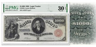Extremely Rare PMG-Certified Silver Certificate Offered in August ANA Auction
