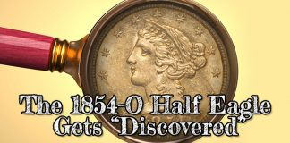 """Classic U.S. Gold Coins: The 1854-O Half Eagle Gets """"Discovered"""""""