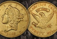Unique Wass Molitor $20 Gold Featured in August GreatCollections Auction
