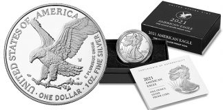 Redesigned United States Mint 2021 American Eagle Silver Proof Coin Available July 20
