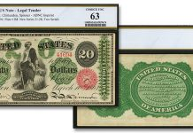 Uncirculated 1863 $20 Legal Tender Note Presented in Stack's Bowers ANA Currency Auction