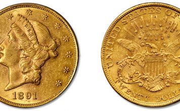 1891 Double Eagle Rarity at Stack's Bowers August 2021 ANA World's Fair of Money Auction