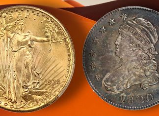 High Mint State Full Head Type 1 Standing Liberty Quarter, Registry-Quality 1928 $20 Saint at David Lawrence Rare Coins