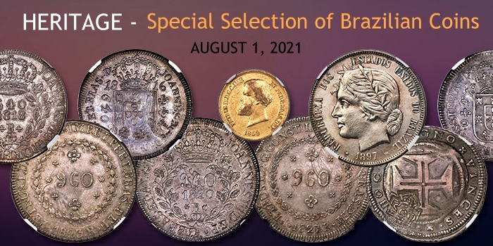 Brazilian Coins Presented in Heritage Showcase Auction