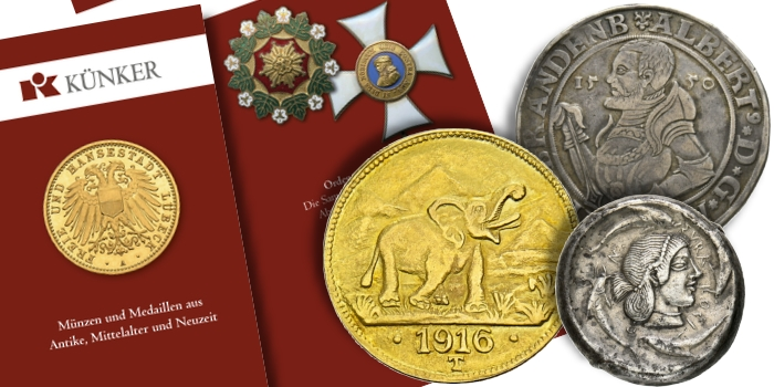 Künker eLive Auction 67: Ancient, World Coins and Military Orders and Decorations