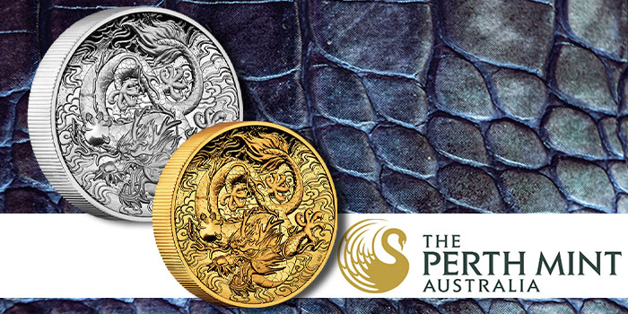 Perth Mint Issues Chinese Myths and Legends Dragon 2021 2oz Gold Proof High Relief Coin