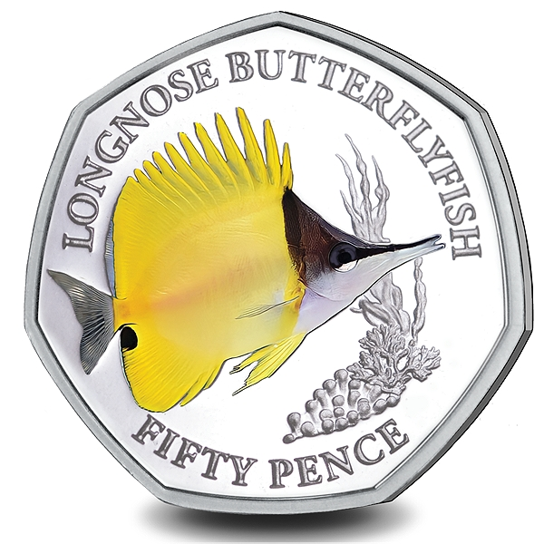 Next to Last 50p Coin in Sea Creatures Series from Pobjoy Mint Available Now