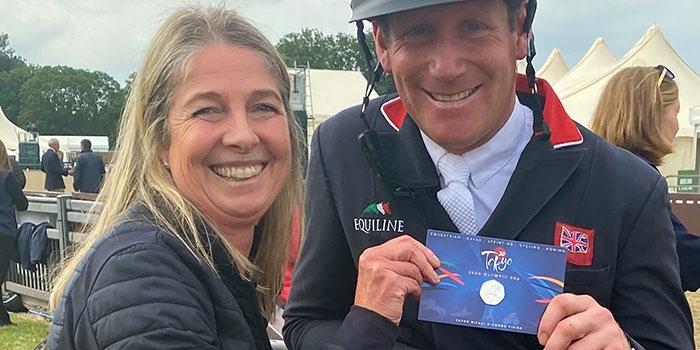 Pobjoy Mint Presents Team GB Equestrian Athlete Oliver Townend With 50p Olympic Coin
