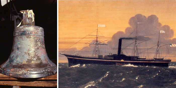 Ship of Gold SS Central America Bell and Gold Rush Treasure at ANA World's Fair of Money