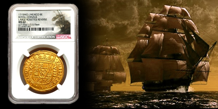 1715 Royal Mexican 8 Escudos Offered by Heritage at ANA World Coin Auction