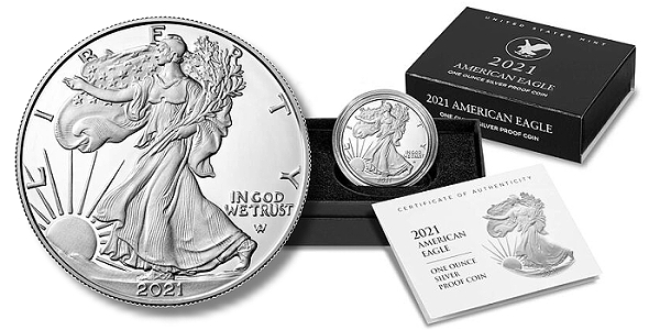 Redesigned 2021 San Francisco American Eagle Silver Proof Coin Available August 12