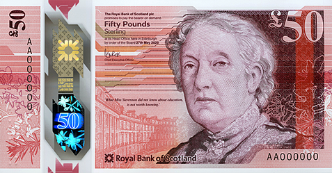 Royal Bank of Scotland issue new £50 polymer note printed on De La Rue's SAFEGUARD