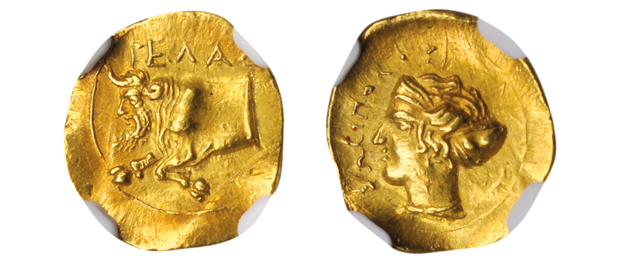 Stack's Bowers 2021 ANA World's Fair of Money Auction - Fantastic Sicilian Ancient Gold Coin With Mid-18th Century Pedigree