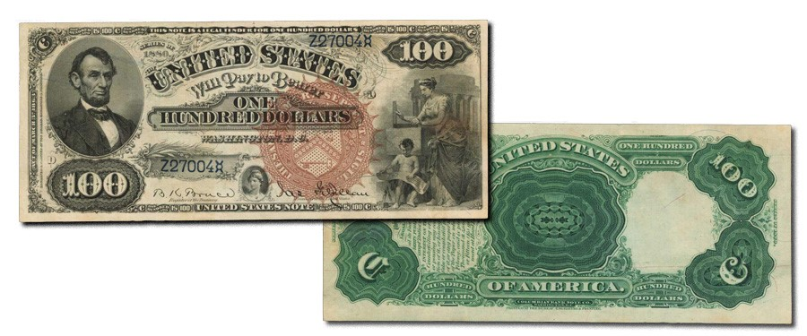 Scarce Fr. 172 1880 $100 Legal Tender Note - Stack's Bowers Galleries 2021 ANA World's Fair of Money US Currency Auction