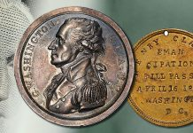 ANA Money Museum Receives Important Donation of George Washington Medals From Dwight Manley