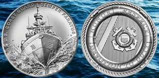 US Mint Opens Sales for U.S. Coast Guard 2.5 oz. Silver Medal August 17