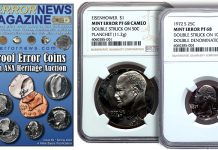 Mike Byers Mint Error News - U.S. Proof Error Coins Offered in ANA Heritage Auction