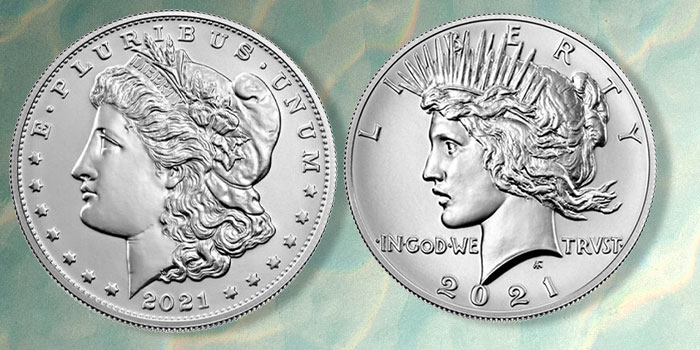 US Mint Opens Pre-Order Windows for Remaining 2021 Morgan, Peace Dollars August 3 and 10