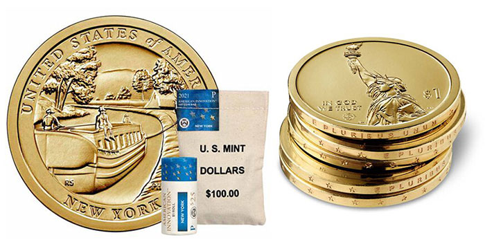 US Mint Opens Sales for New York American Innovation $1 Coin Products August 31
