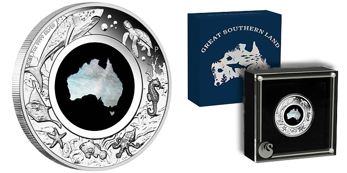 Perth Mint Coin Profiles - Australia 2021 Great Southern Land 1oz Silver Proof Mother of Pearl Coin