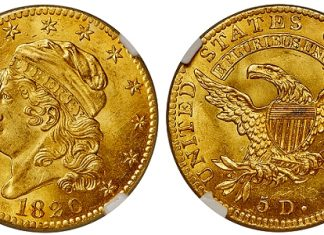 Norweb 1820 Square Base 2 Half Eagle, the Only Available BD-4, Offered by Heritage Auctions
