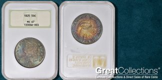 Finest-Known 1825 Capped Bust Half Dollar to be Auctioned by GreatCollections