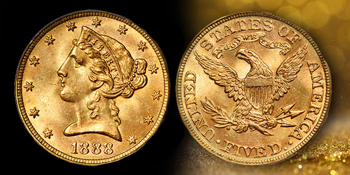 Single Finest PCGS 1888 Half Eagle Offered in Stack's Bowers Nov. 2021 Auction