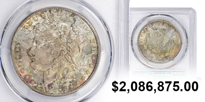 Famous Jack Lee 1893-S Morgan Silver Dollar Realizes $2.09 Million at GreatCollections Auction