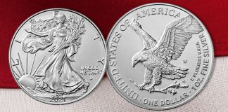 Redesigned 2021 West Point American Silver Eagle Uncirculated Coin Available September 9