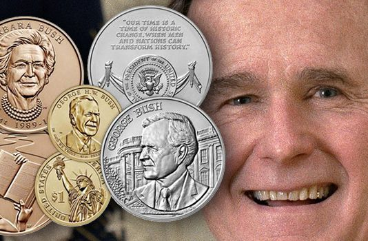 George H.W. Bush Coin and Chronicles Set Available From US Mint on Sept. 17