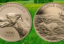 Hungarian Greyhound the Newest Entry in Popular Hungarian Dog Breed Coin Series