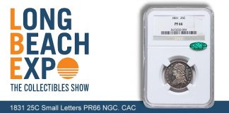 Recently Discovered Rare Proof 1831 Capped Bust Quarter at Heritage Long Beach Auction