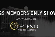 Legend Rare Coin Auctions Renews Sponsorship of PCGS Members Only Shows
